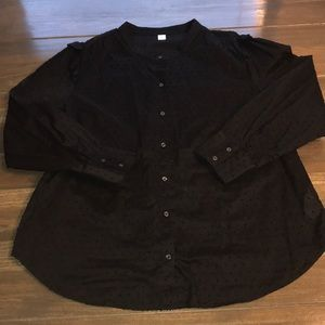 Old Navy Women's Black Button Up Blouse